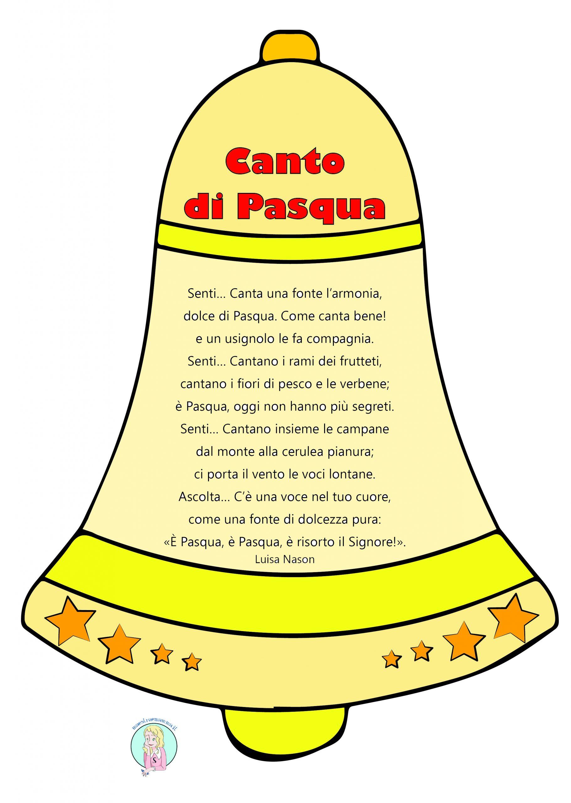 poesia canto di pasqua di Luisa Nason con campana