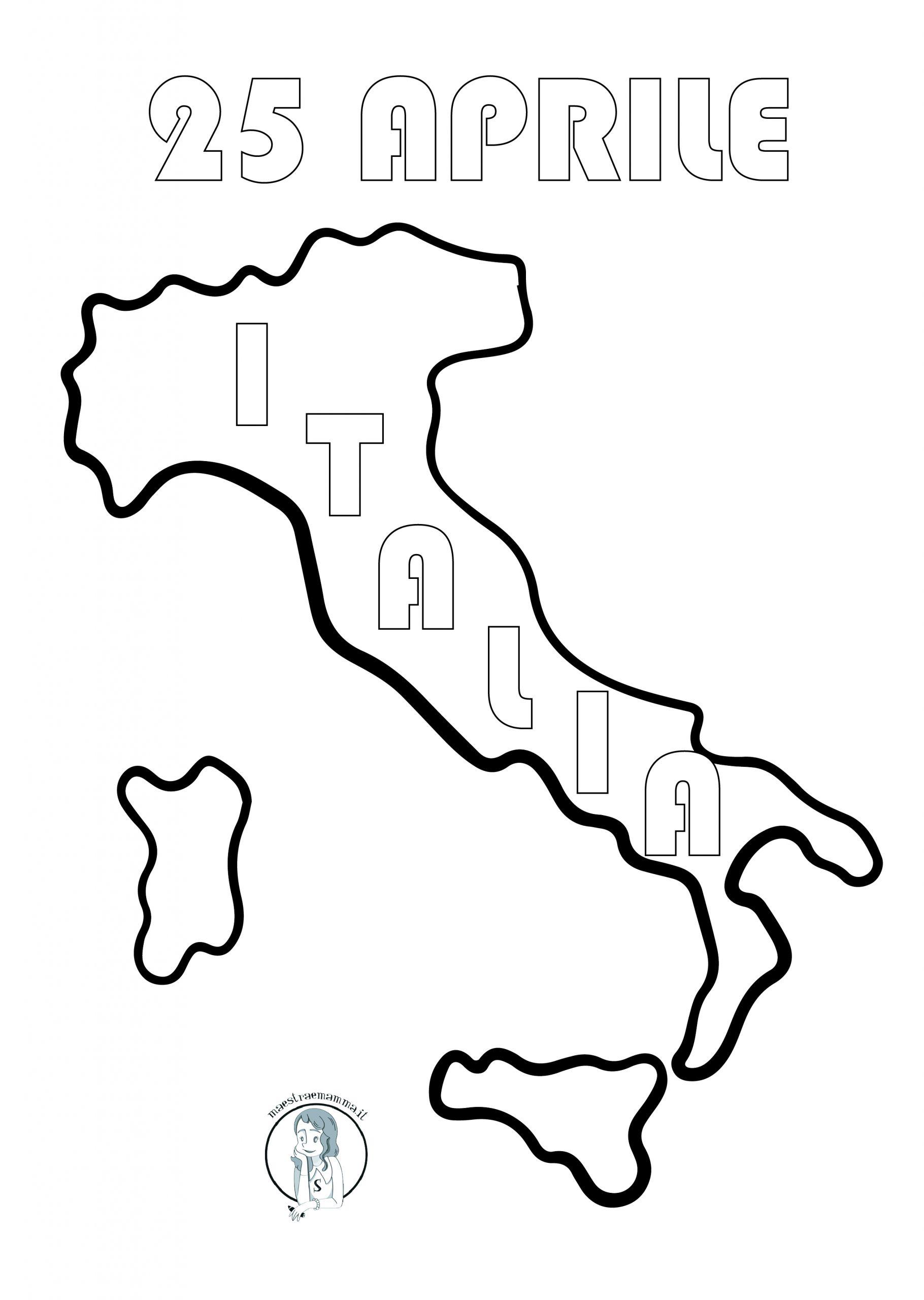 cartina italia 25 Aprile Festa della Liberazione: attività didattiche per la classe