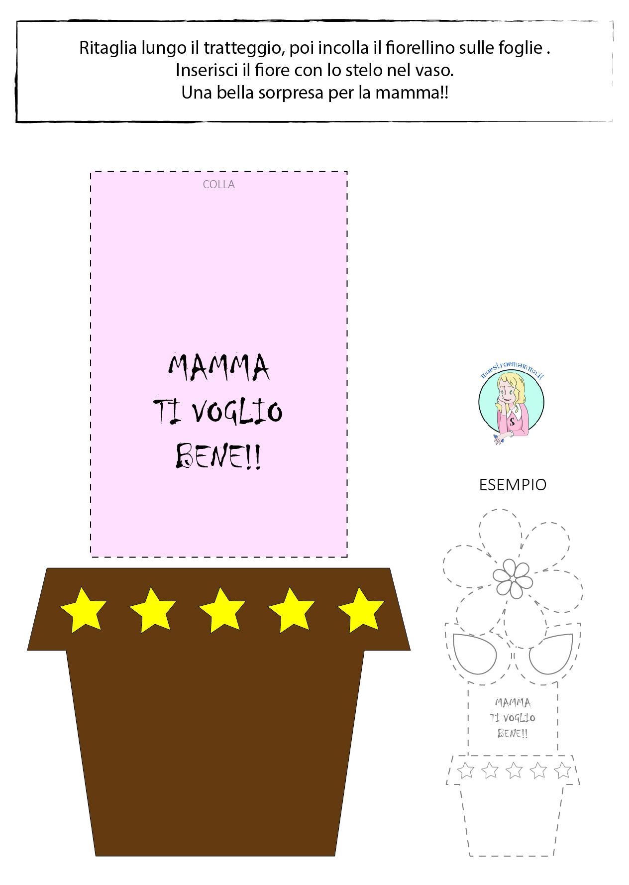 Semplice lavoretto, facile e veloce per la festa della mamma