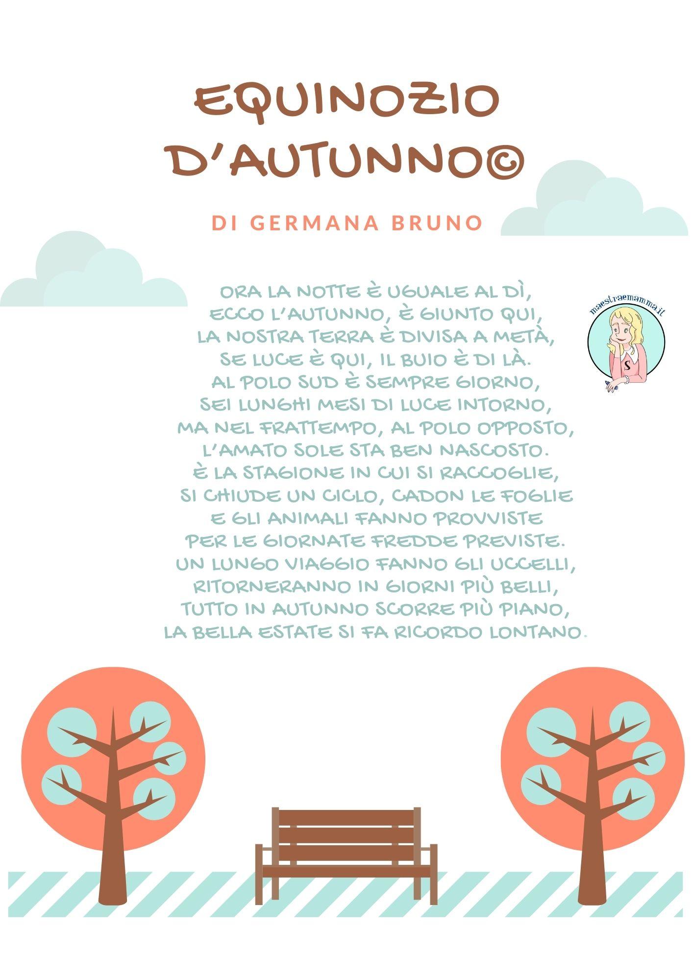 22 settembre 2021 - EQUINOZIO D'AUTUNNO nuova poesia di Germana Bruno